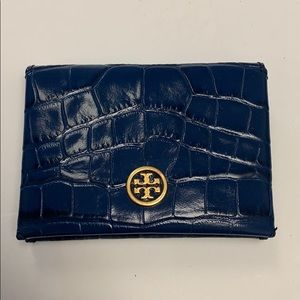 Tory Burch Parker embossed leather card holder